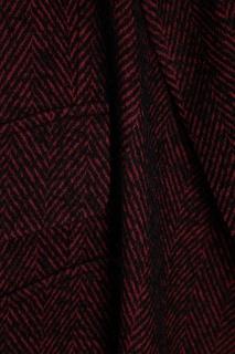 Бордовое пальто из хлопка и шерсти Ann Demeulemeester