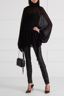 Черная блузка с драпировками Ann Demeulemeester