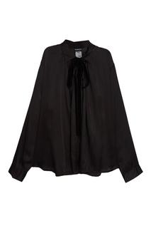 Шелковая блузка с атласной отделкой Ann Demeulemeester