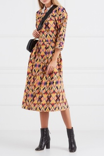 Платье с контрастным принтом Vivetta