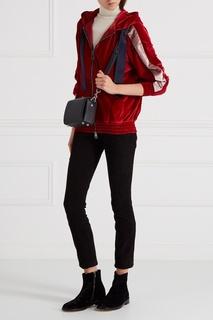 Бархатная олимпийка с капюшоном Forte Couture