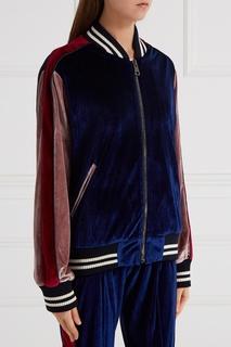 Бомбер из комбинированного бархата Forte Couture