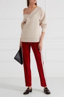 Бархатные брюки красные Forte Couture
