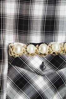 Блузка с декорированными карманами Forte Couture