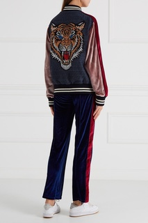 Бархатные брюки синие Forte Couture
