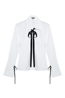 Хлопковая блузка с завязками Ann Demeulemeester