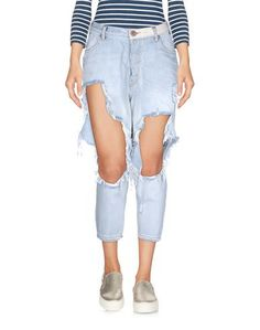 Джинсовые брюки-капри ONE X Oneteaspoon