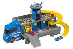 Игровой набор HTI «Полицейский грузовик-трек с двумя машинками и вертолётом»