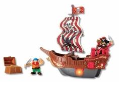 Игровой набор Keenway «Приключение пиратов. Битва за остров» с красным парусом