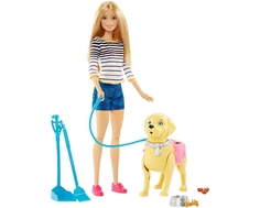 Кукла Barbie «Прогулка с питомцем» 33 см
