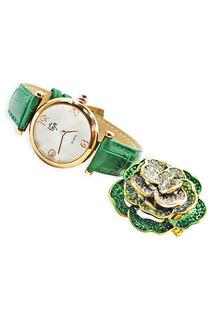 Набор: часы, кольцо Taya