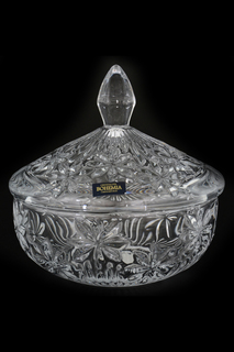 Конфетница с крышкой, 15 см Crystalite Bohemia