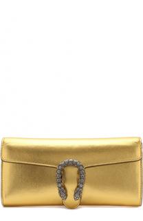 Клатч Dionysus из металлизированной кожи Gucci
