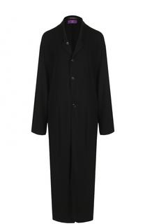 Шерстяное приталенное пальто с карманами Yohji Yamamoto