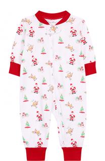 Хлопковая пижама с новогодним принтом Kissy Kissy