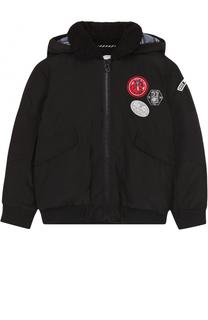 Куртка с капюшоном и нашивками Marc Jacobs