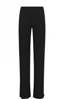 Шерстяные брюки фактурной вязки Blugirl