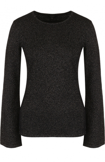 Кашемировый приталенный пуловер с круглым вырезом Escada