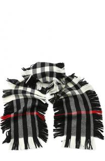 Шерстяной шарф с бахромой Burberry