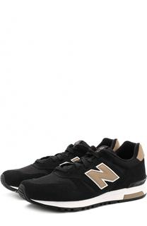 Замшевые кроссовки 565 с текстильными вставками New Balance