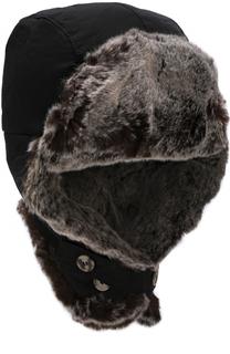 Утепленная шапка-ушанка Woolrich