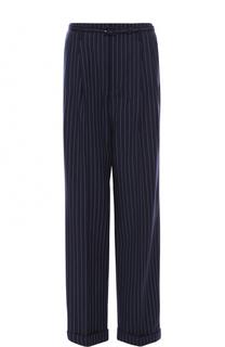 Шерстяные брюки с защипами и поясом Polo Ralph Lauren