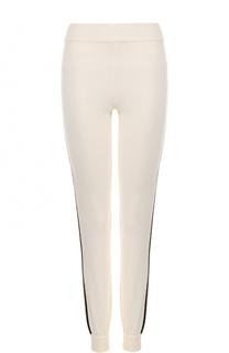 Шерстяные джоггеры с контрастными лампасами Fendi