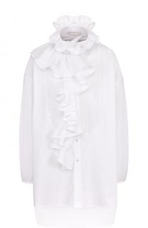 Удлиненная хлопковая блуза с оборками Faith Connexion