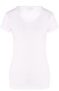 Хлопковая приталенная футболка с круглым вырезом Escada Sport