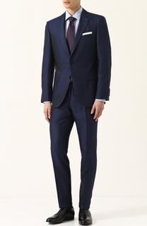 Шелковый костюм с пиджаком на двух пуговицах BOSS