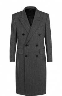 Двубортное пальто из смеси шерсти и кашемира Tom Ford