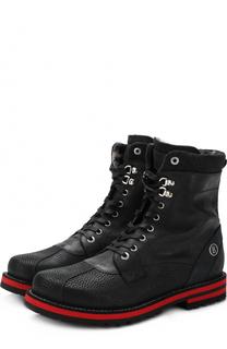 Высокие кожаные ботинки на шнуровке Bogner