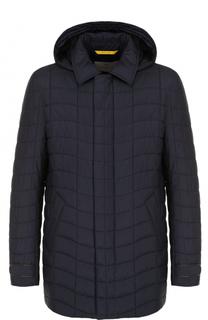 Стеганая куртка на молнии с капюшоном Canali