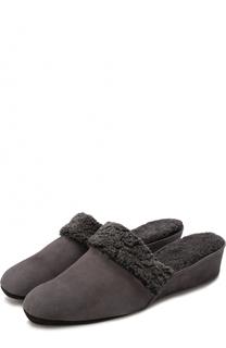 Замшевые домашние туфли с внутрненнй отделкой из овчины Homers At Home