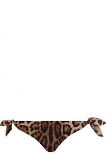 Плавки-бикини с леопардовым принтом Dolce & Gabbana