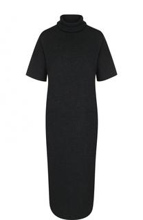 Шерстяное платье с коротким рукавом и высоким воротником Allude