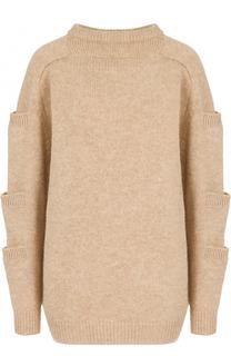Шерстяной пуловер с круглым вырезом Christopher Kane