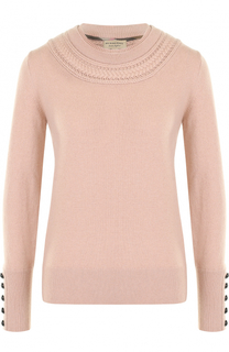 Кашемировый пуловер с круглым вырезом Burberry