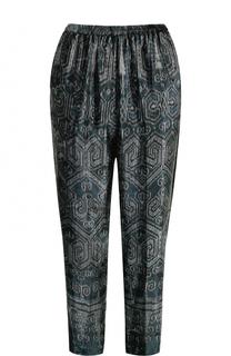 Укороченные брюки с лампасами и принтом Forte_forte