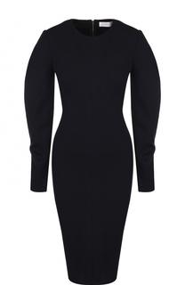 Приталенное платье-миди с длинным рукавом Victoria Beckham