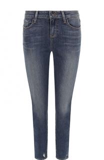 Укороченные джинсы-скинни с потертостями Paige