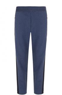 Хлопковые брюки прямого кроя с поясом на резинке Canali