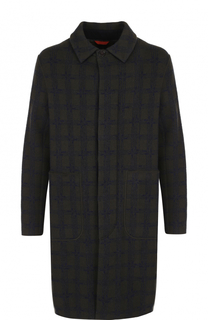 Шерстяное пальто на пуговицах прямого кроя Missoni