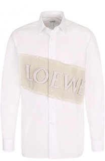 Хлопковая рубашка свободного кроя с аппликацией Loewe
