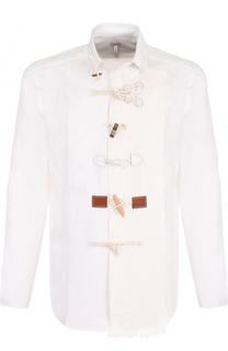 Хлопковая рубашка свободного кроя с отделкой Loewe