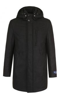 Пальто из смеси шерсти и кашемира на молнии с капюшоном Woolrich