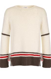Шерстяной свитер свободного кроя с отделкой Maison Margiela