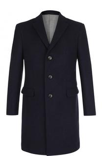 Однобортное шерстяное пальто с отложным воротником Z Zegna