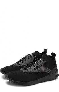 Текстильные кроссовки на шнуровке Marcelo Burlon
