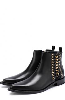 Кожаные ботинки с металлической отделкой Alexander McQueen